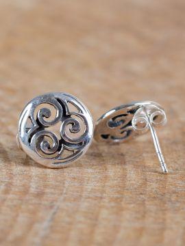 Boucles d'oreille Spirales Celtiques