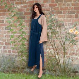 Ensemble robe médiévale bleue et blouse Othilie