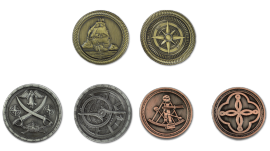 Pièces de monnaie GN Pirates