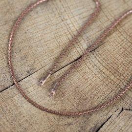 Chaîne en bronze à maille python 2 mm
