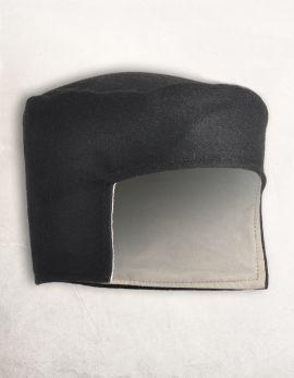 Bonnet médiéval en laine noire