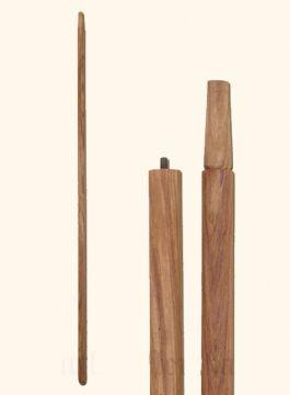 Manche de lance en bois de rose massif