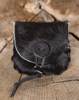 Petit sac en peau de vache, noir