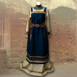 Robe viking Runhild - bleue marine