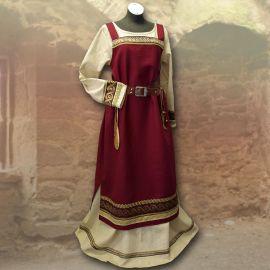 Robe viking Runhild - bordeaux