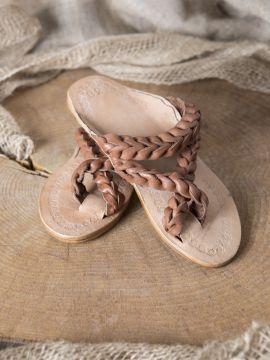 Sandale en cuir tressé