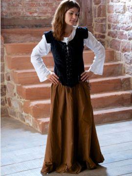 Ensemble jupe, blouse et corset