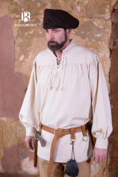 Chemise médiévale ou de pirate en blanc -écru