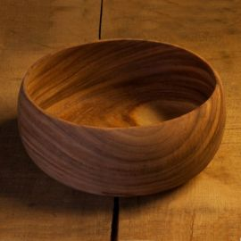 Saladier en acacia 15 cm prix bradé