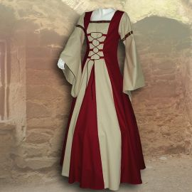 Robe de gente dame Sybille bordeaux et sable