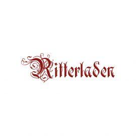 Robe médiévale Sylvia en noir et sable