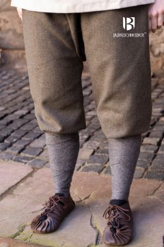 Pantalon féminin Tilda chiné vert et gris