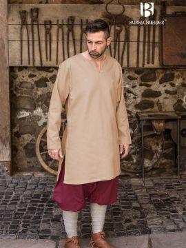 Tunique en coton peigné, couleur chanvre
