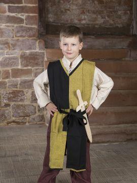 Tabard bicolore Norman pour enfant, jaune et noir