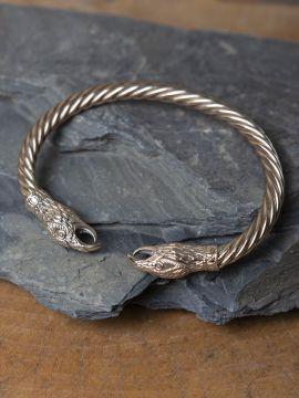 Bracelet jonc Corbeaux, en bronze