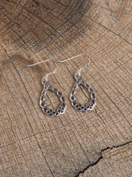 Boucles d'oreilles en tresse celtique