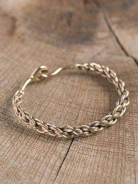 Bracelet bronze, maille tressée