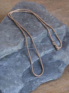Chaine mailles serpent en bronze