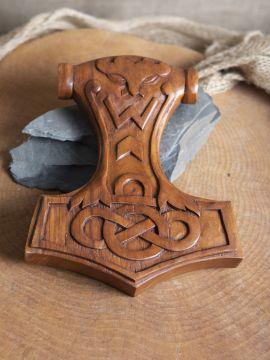 Ornement Marteau de Thor en bois