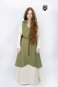 Robe portefeuille Runa, en vert