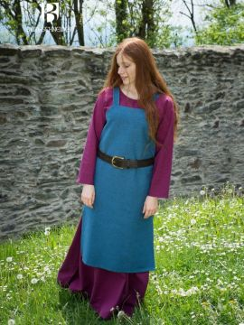Robe Viking Frida en bleu cyan