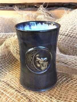 Mug en céramique Loup, gis-bleu