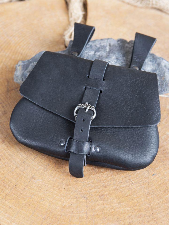 Sacoche de ceinture médiévale, en noir