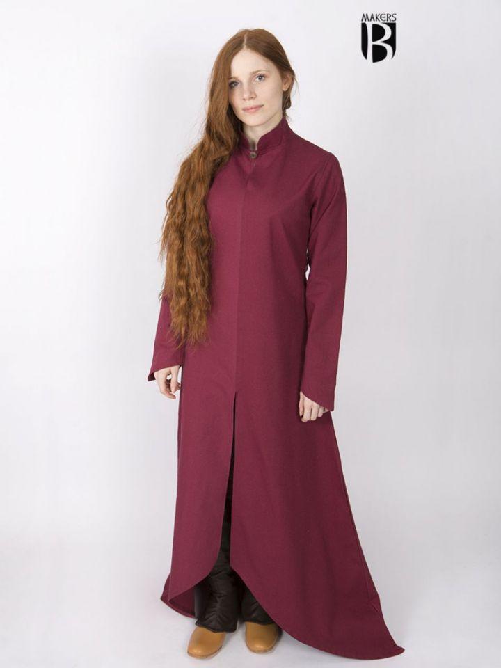 Longue robe Ranwen, rouge S