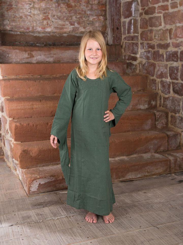Robe médiévale en coton pour enfant 122/128 | bordeaux