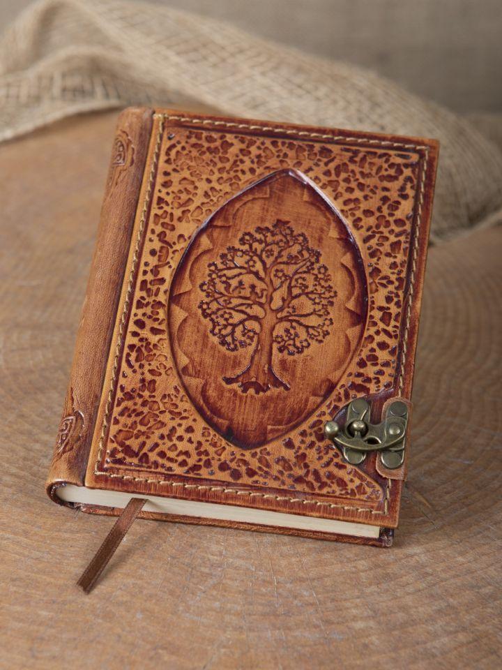 Petit carnet en cuir motif Arbre
