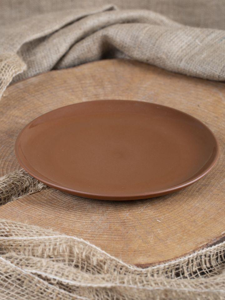 Assiette plate en argile émaillée 26 cm