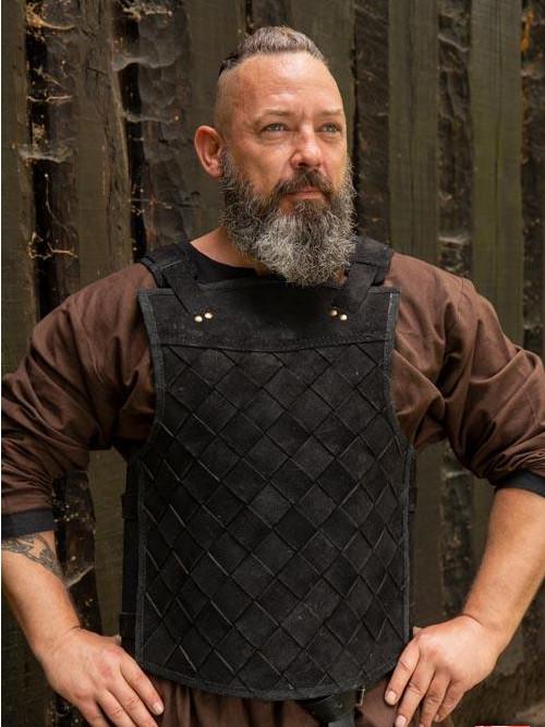 Armure Viking en cuir noir