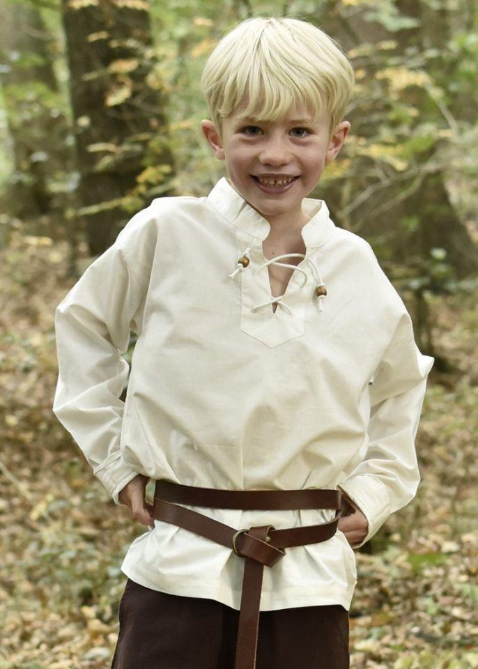 Chemise médiévale pour enfant, en écru