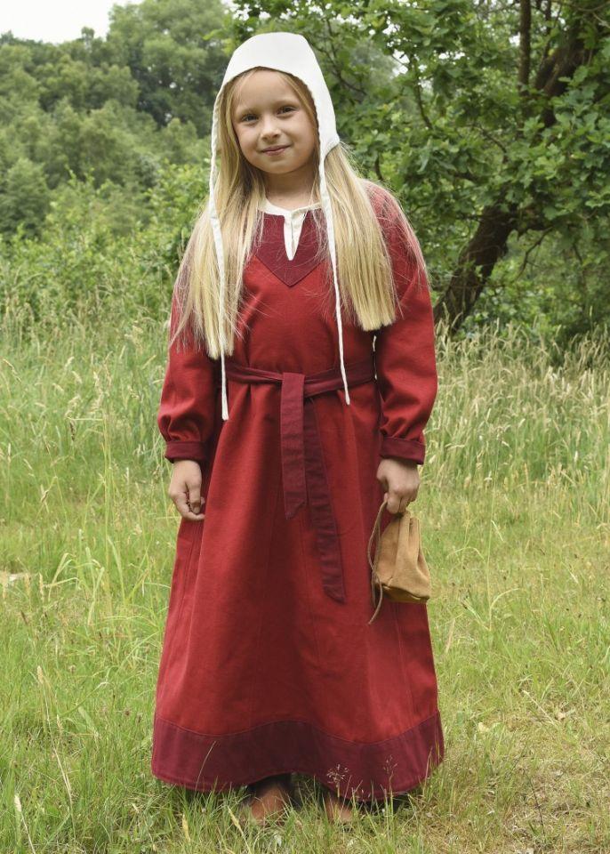 Robe Viking pour enfant, rouge/lie de vin