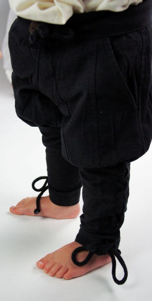Pantalon médiéval enfant en noir