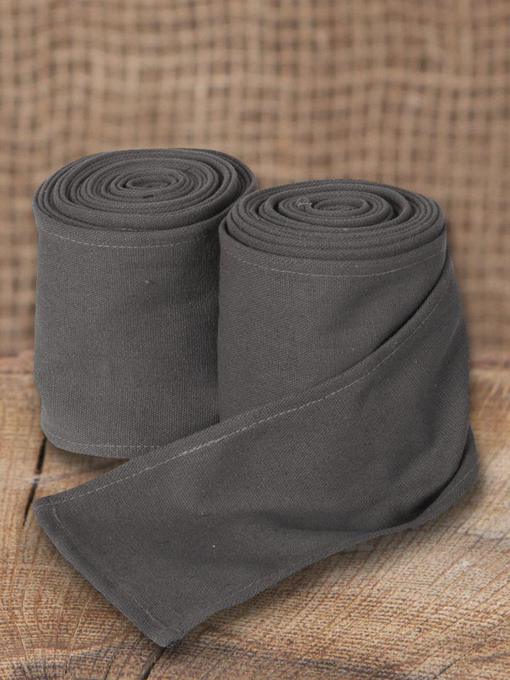 Bandes à enrouler en toile - couleur grise(370 cm)