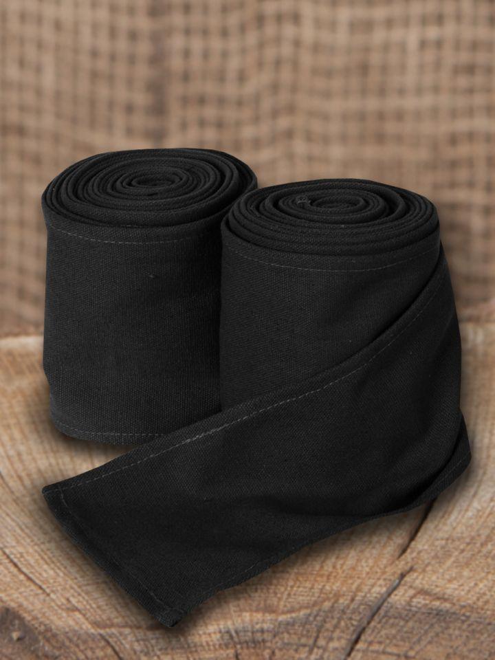 Bandes à enrouler en toile couleur noire (370 cm)