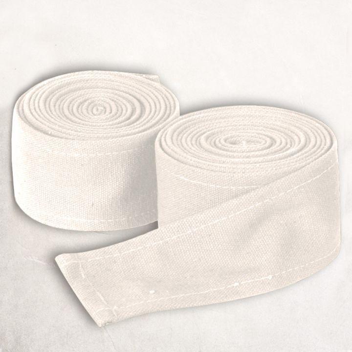 Bandes à enrouler en tissu épais blanc-écru