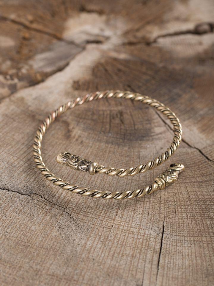 Bracelet viking spirale en bronze