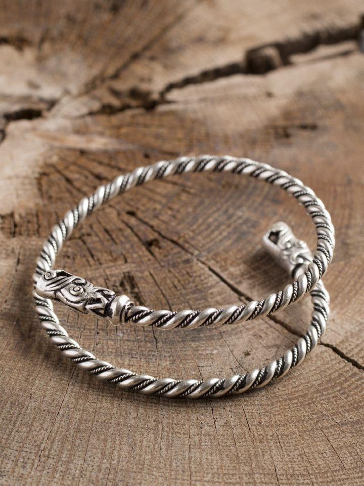 Bracelet viking spirale argenté