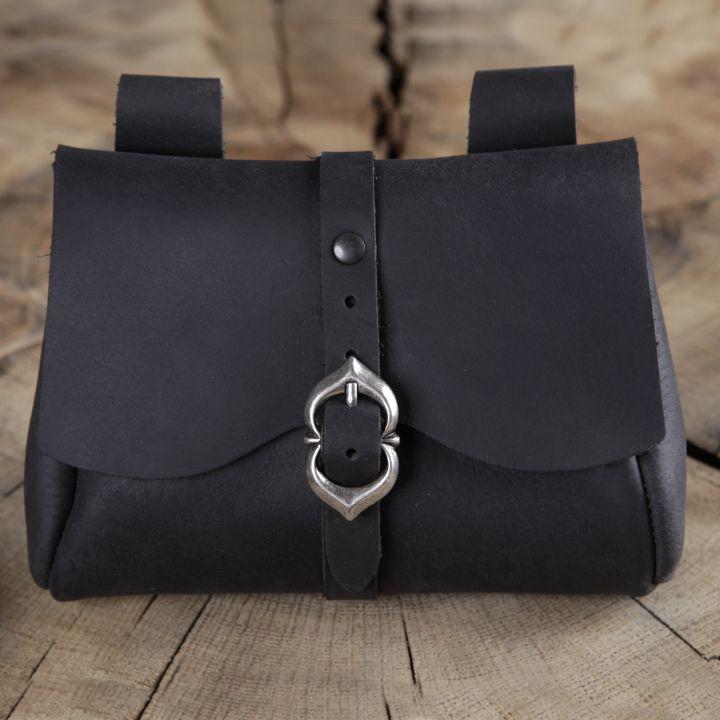 Sacoche de ceinture médiévale, noire