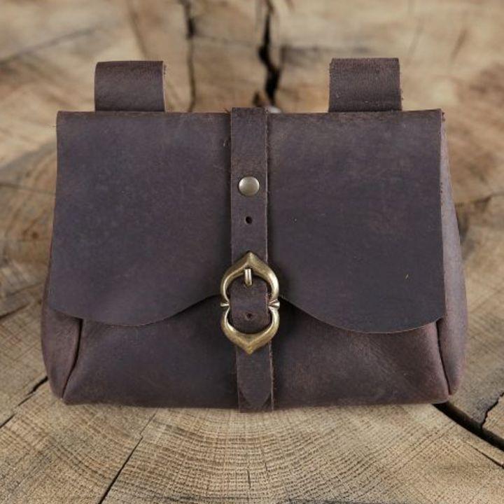 Sacoche de ceinture médiévale, marron