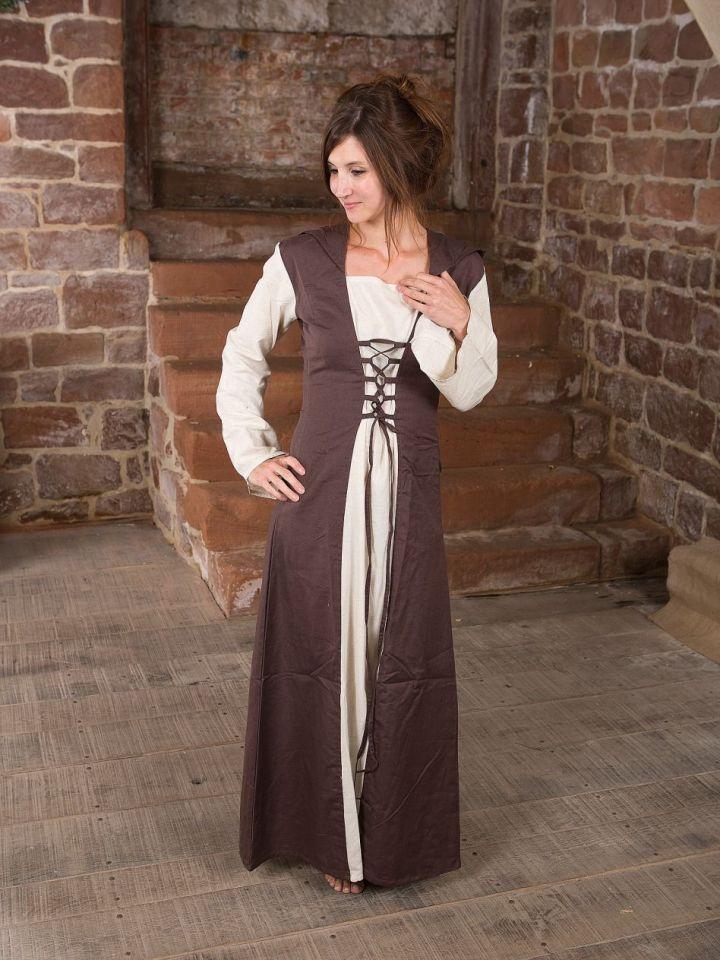 Robe médiévale à capuche L/XL