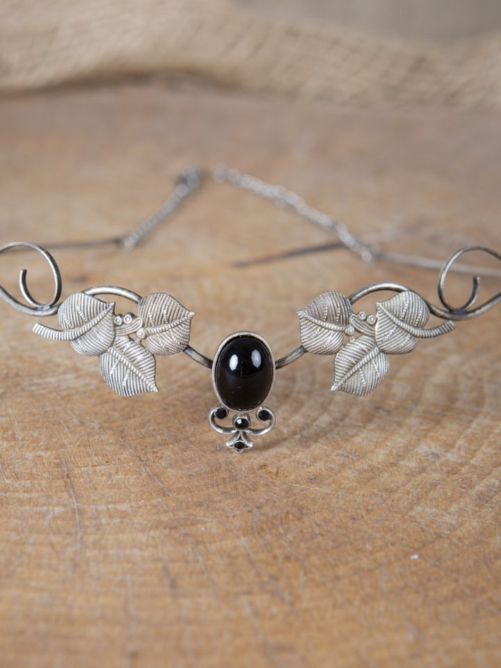 Couronne tiare avec perles noire