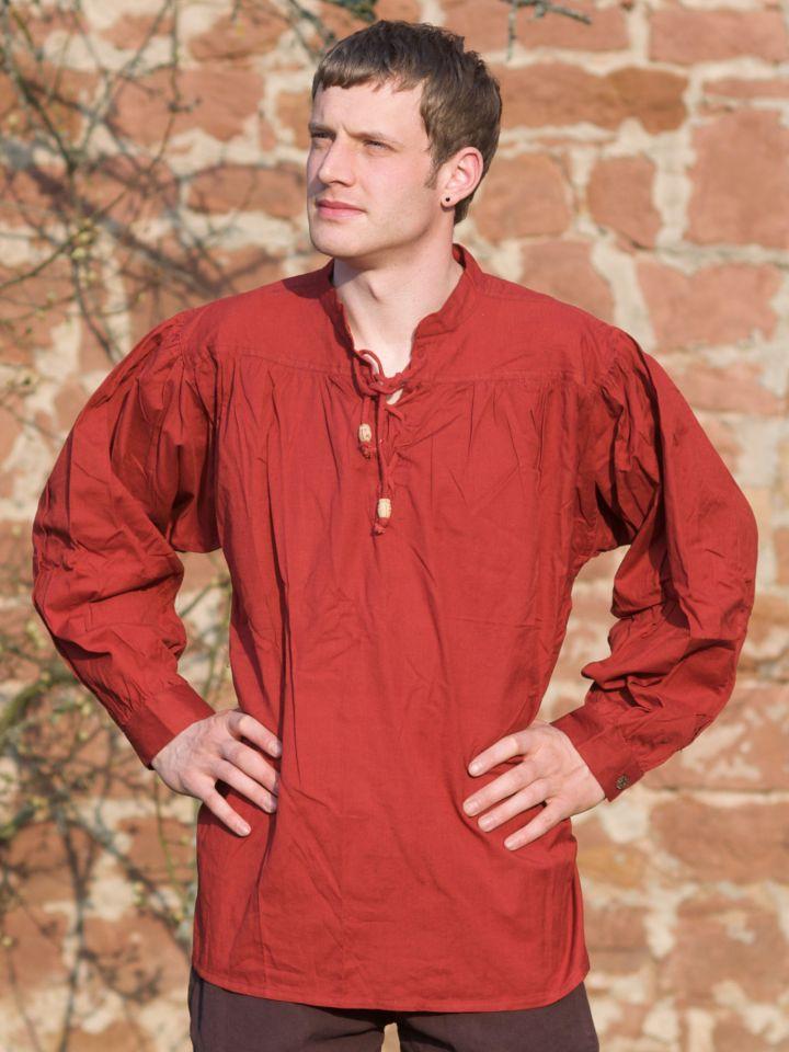 Chemise médiévale rouge