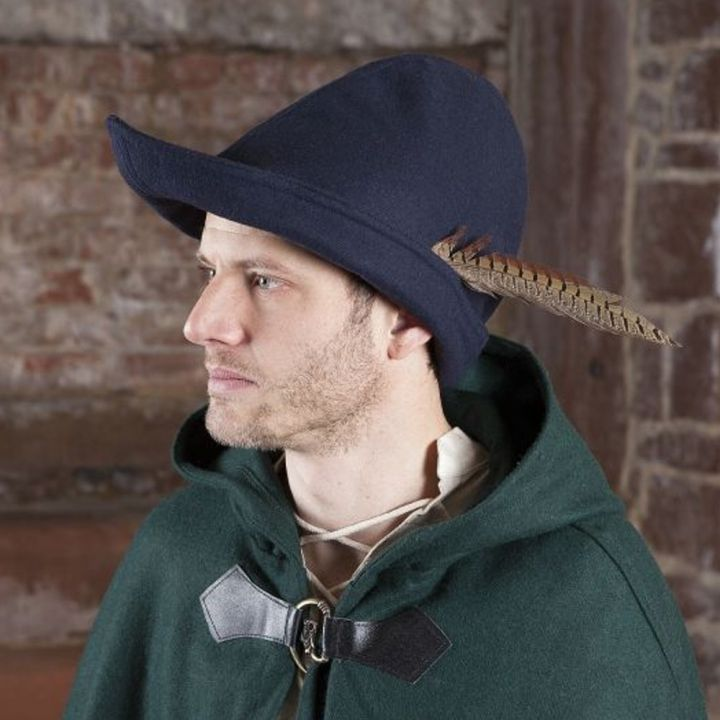 Chapeau de Robin des Bois en bleu