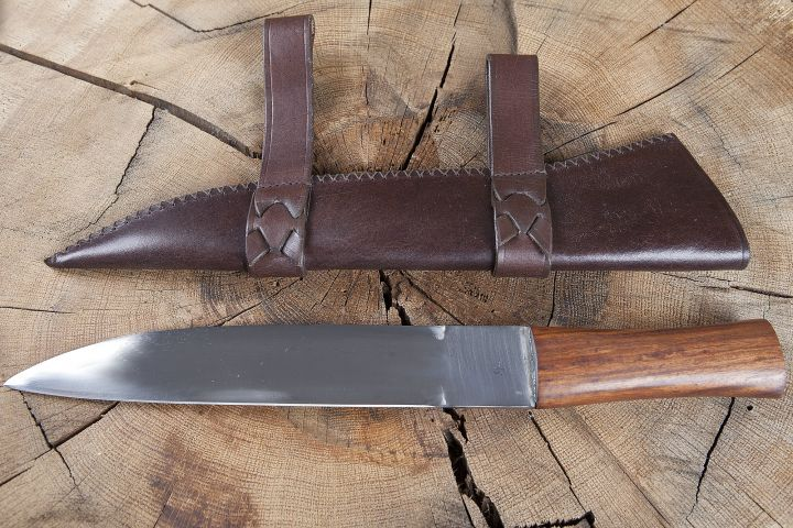 Saxmesser avec fourreau en cuir