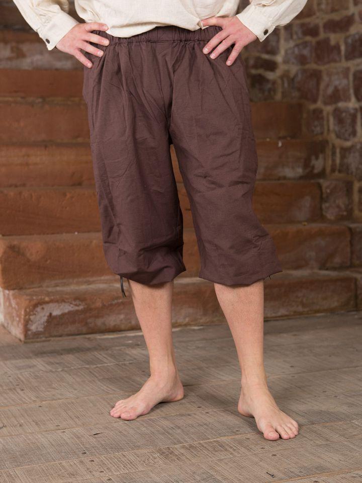 Pantalon médiéval court brun foncé M