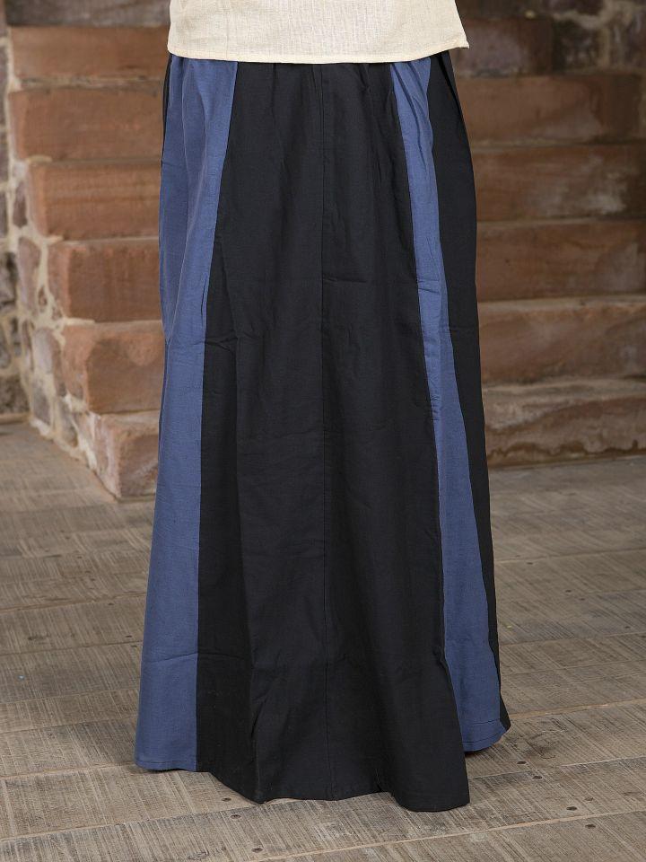 Jupe Médiévale bicolore noire et bleue