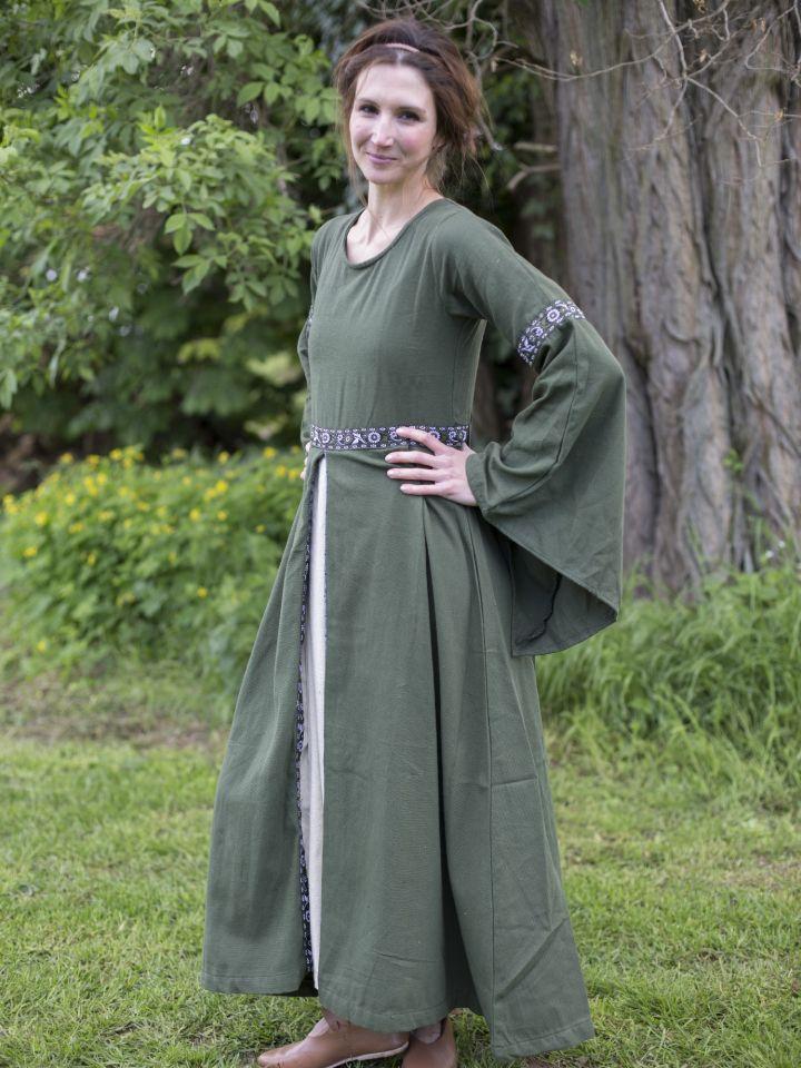 Robe médiévale vert forêt